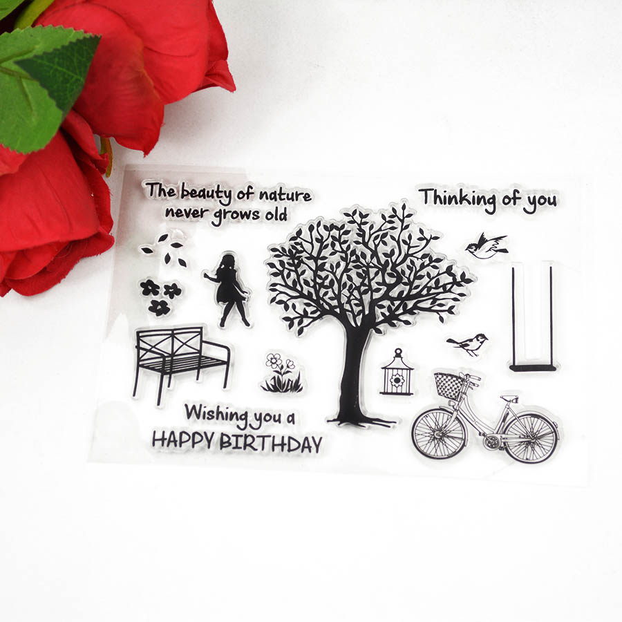 Clear Stamps cartoon for Scrapbooking/DIY Christmas Decoration wedding birhday city album 099
