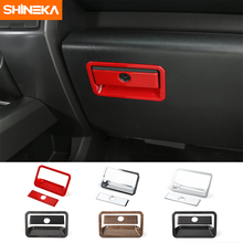SHINEKA Car Styling Interior Copilot Position Storage Box Handle Decoration Cover Trim Stickers for Ford F150 2015+