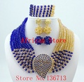 2015 Fashionable Nigerian Wedding African Beads Jewelry Sets Costume Indian Bridal Necklace Jewelry Set Free Shipping SY804-3