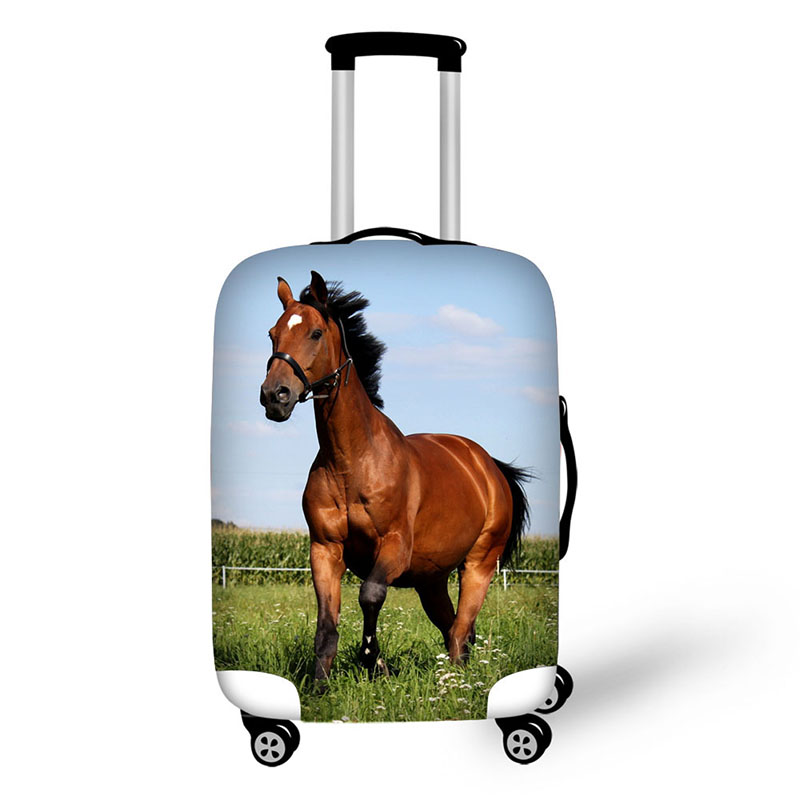 Animal Cow Horse Travel Accessories Suitcase Protective Covers 18 32 Inch Elastic Luggage Dust Cover Case Stretchable Protect in Travel Accessories from Luggage Bags
