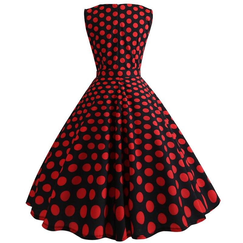 Retro letné párty šaty 1950 s bodkami Swing style (8 variánt) 35