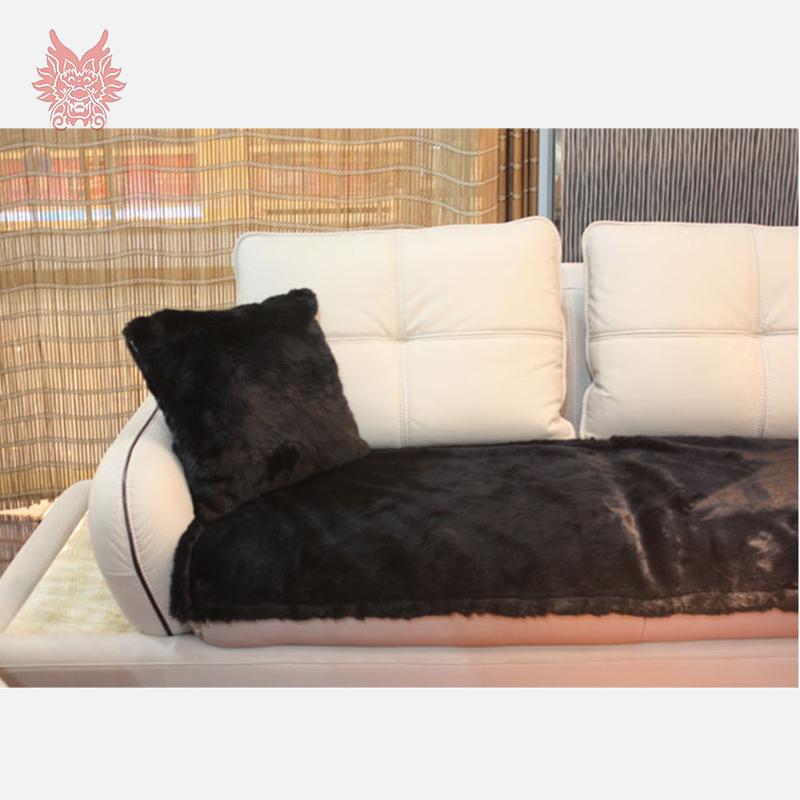 Aliexpress.com : Buy European Style White/black/grey/orange Solid Faux Fur  Sofa Cover For Wither,high Grade Faux Rabbit Fur Slipcovers SP2149 From  Reliable ...