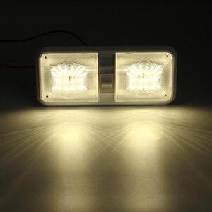 Image 5 - 1 stücke 12 v Auto Dome Licht 48LED Kunststoff Innen Dach Decke Lesen Lampe für RV Boot Yacht Camper