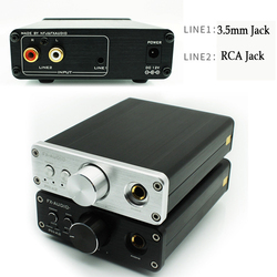 Headphone Amplifier HIFI Dac AC Professional Audio Desktop Portable Audio Headphone Amplifier 3.5mm RCA Input Dac Amplifier