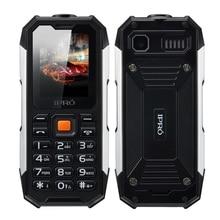 2017 IPRO Waterproof Dustproof Shockproof Rugged Cell Phone I3208 Unlocked Dual SIM 2500mAh FM Bluetooth Flashlight Mobile Phone
