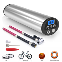 Fineed air compressor Mini Electric Inflator Pump 150 PSI DC 12V Electric Auto Bicycle Pumps with Tyre Pressure Gauge Led light