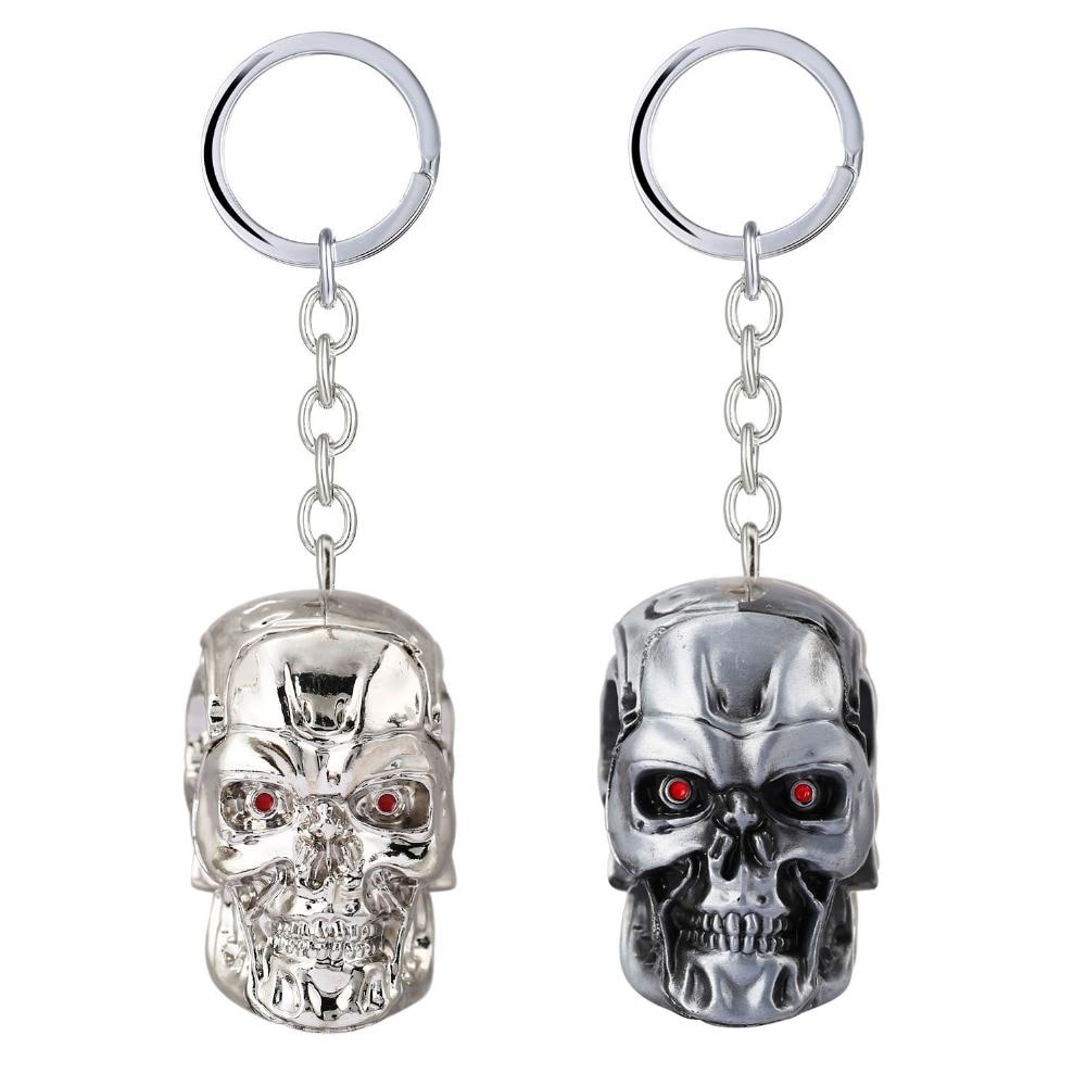 Obesek za ključe Terminator 3D T-1000 Lobanje za darilo Chaveiro Car Keychain Nakit za ključe film Spominki YS11520