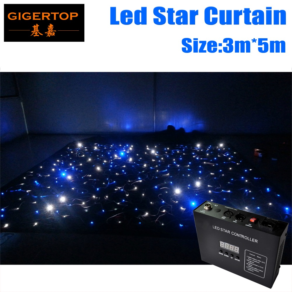 Cheap black stage curtains - Cheap Price 3m 5m 5m 3m Led Star Curtain Rgbw Color Led Stage Backdrop Black