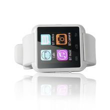New!!Yuntab U8 sport watch touch screen smart watch bluetooth 3.0 silicone wristband for smartphone/Apple phone(white)
