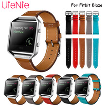 Leather strap For Fitbit Blaze smart watch frontier/Classic replacement bracelet For Fitbit Blaze smart strap band accessories genuine leather watch band for fitbit blaze replacement band meatal frame house wrsit band for fitbit blaze smart watch strap