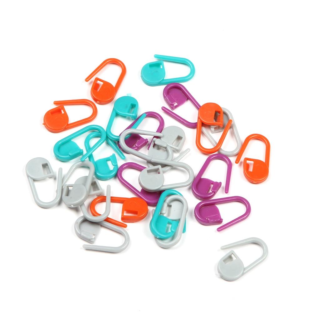 இ100 unids plástico que hace punto del ganchillo locking Stitch ...