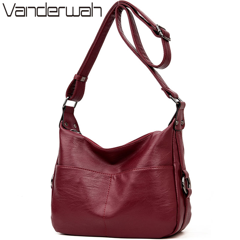VANDERWAH Winter women leather Top-handle bags handbags women famous brands female casual shoulder bag Tote for girls SAC A MAIN 220v lcd programmable electric digital floor heating room thermostat blue backlight weekly warm floor controller
