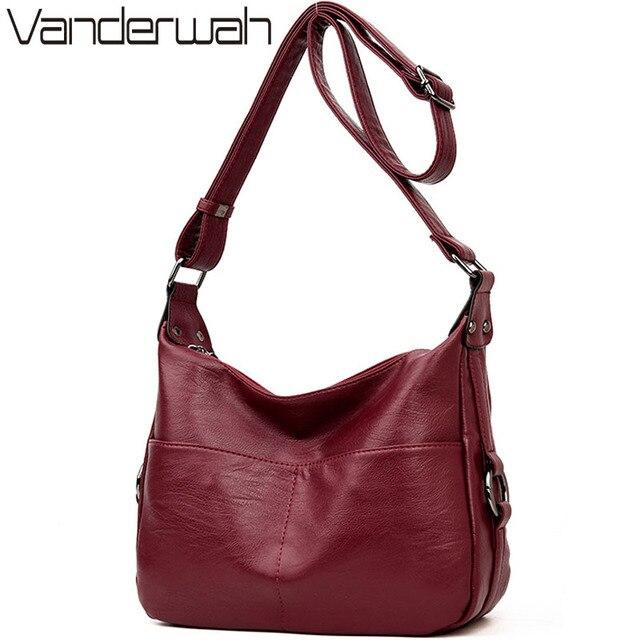VANDERWAH Winter women leather Top-handle bags handbags women famous brands female casual shoulder bag Tote for girls SAC A MAIN
