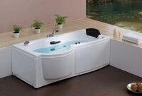 Wall Corner Fiber Glass Acrylic Whirlpool Bathtub Left Apron Hydromassage Tub Nozzles Spary Jets Spa RS6139