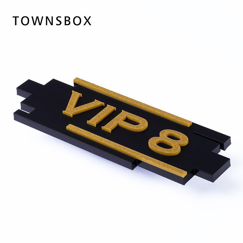 Acrylic VIP Room Signage Door Sign VIP Room Number Plate Restaurant Hotel Digital Card Wall Mounted Sign Wall Sticky Tag Sticker signage