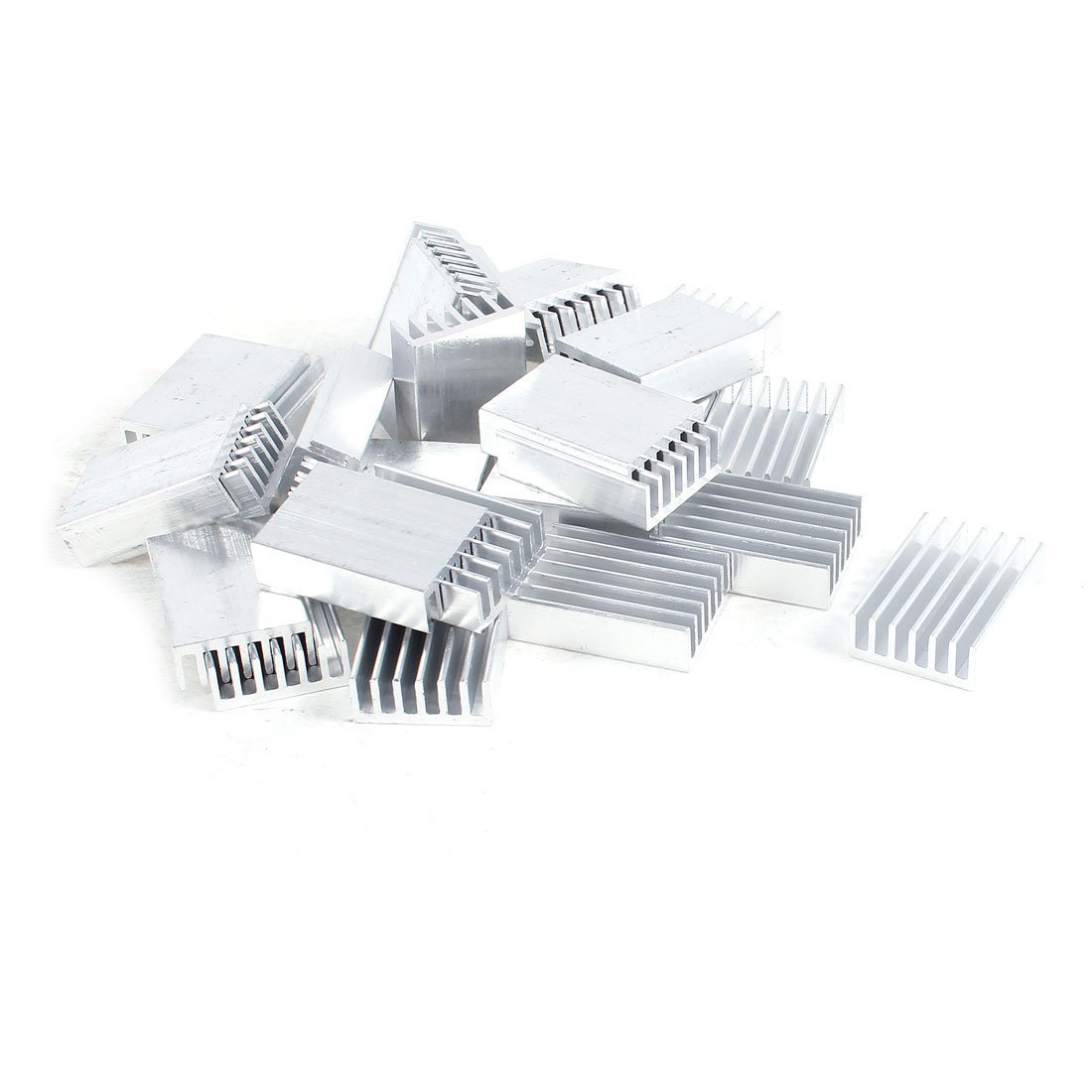 YOC 30 Pcs Aluminum Heatsink Cooling Fin 20mmx14mmx6mm for Mosfet IC 5pcs lot pure copper broken groove memory mos radiator fin raspberry pi chip notebook radiator 14 14 4 0mm copper heatsink