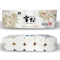 10 Rolls Goede Toiletpapier Drie Floor Wc-papier Houtpulp Toiletpapier Roll Papier 110mm * 110mm * 70