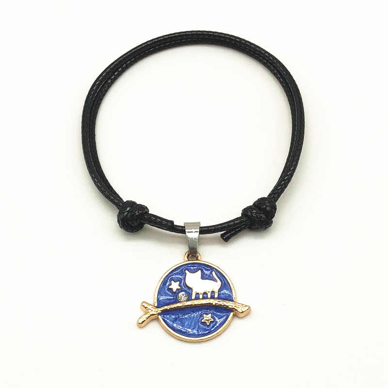 2018 moda mulher pulseiras vintage corda preta ajustável par de corrente casal pulseira jóias amizade pulseiras presente