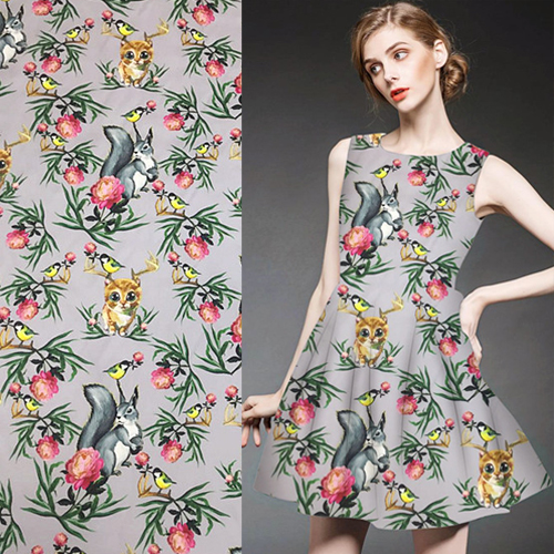78714dfd2fed6 US $13.5 10% OFF Animal and plant print design pure silk twill silk fabric  floral design,STW060-in Fabric from Home & Garden on Aliexpress.com   ...