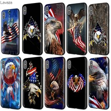 Lavaza American Eagle USA Caso Bandierina per il iphone 11 Pro XS Max XR X 8 7 6 6S Plus 5 5s se(China)