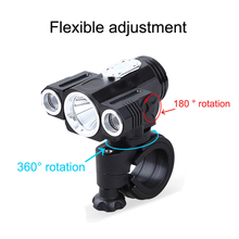 10000LM 3x XML T6 LED 4.2v Adjust angle Front Bicycle light USB Bike Lamp Headlight with Battery+Back Tail Light Set 10000lm 3x xml t6 led 4 2v adjust angle front bicycle light usb bike lamp headlight with battery back tail light set