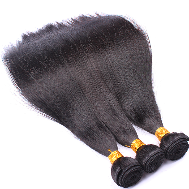 Brazilian Hair Weave bundles Silky Straight 100% Remy Human Hair Weaving 3 Bundles Deal Natural Black Cara Hair Extensions