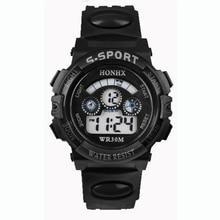 Paradise 2016 Fashion Waterproof Children Boys Digital LED Sports Watch Kids Alarm Date Watch Gift  Free Shipping Apr12