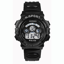 Paradise 2016 Fashion Waterproof Children Boys Digital LED Sports Watch Kids Alarm Date Watch Gift Free Shipping Apr12