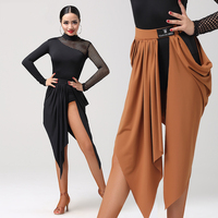 New Arrival Latin Dance Skirt For Women Practice Clothes Sexy Flamenco Skirts Competition Dancing Costume Cha Cha/Tango DN1206