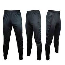 Hot Sale Men Soccer Running Training Sweat Skinny Pants Trousers Pure Black