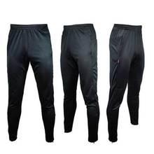 Hot Sale Men Soccer Running Training Sweat Skinny Pants Trousers Pure Black