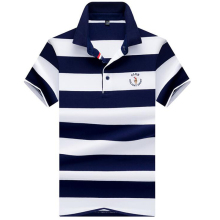 2019 NEW Polo shirt High quality brand striped Casual men polo Summer cotton solid male Branded clothing