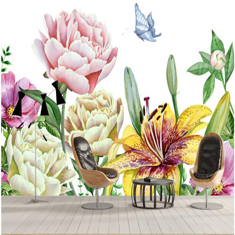 High Quality Wallpapers Flower Wallpaper For Home Sober And Elegant Spring Free Living Room Wall Decor In From
