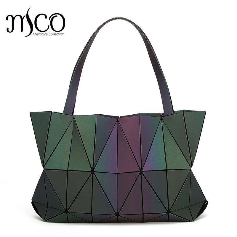 venta caliente de japn bolso plegable cadenas bolso de lujo lucent prisma roca bolsa de asas