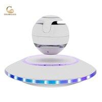Goldbulous Portable Magnetic Levitation Speaker Subwoofer Loudspeakers Bass Sound System Wireless LED Lamp Bluetooth Speaker