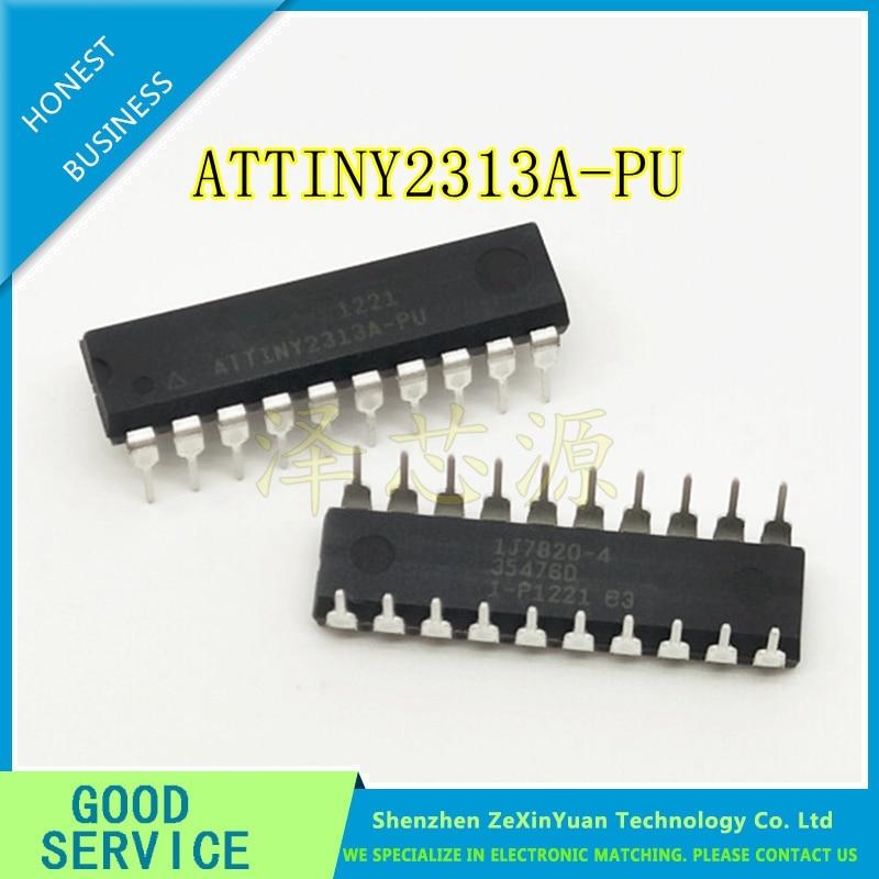 2Pcs ATMEL ATTINY 2313 ATTINY2313-20PU MCU AVR CHIP IC DIP-20