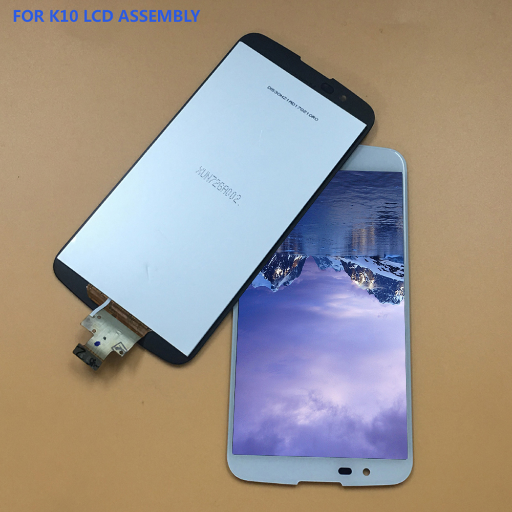 For LG K10 LTE K430 K430DS / K410 K420 K420n Black / White Touch Screen Digitizer Panel + LCD Display Monitor Assembly