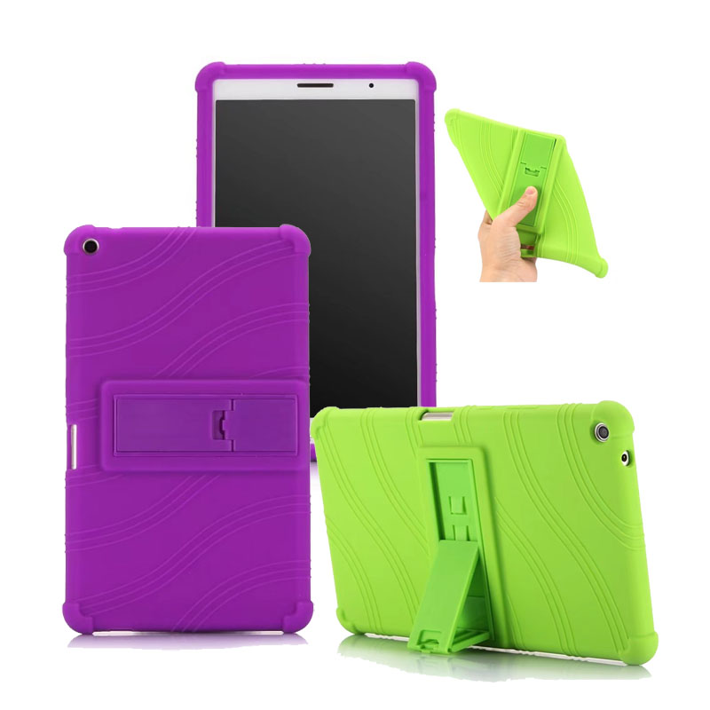 20PCS/Lot Soft Silicone Protective Cover For Huawei Mediapad T3 8.0 Stand Case By DHL Fedex