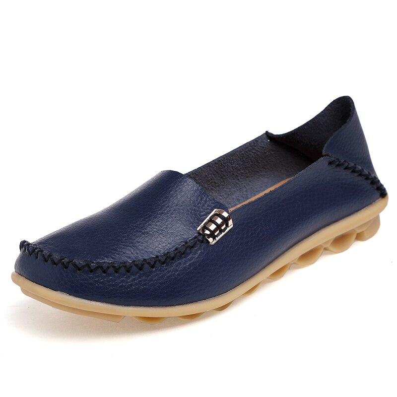Donna Flats Genuine Pelle 2018 Donna scarpe scarpe scarpe Flat Moccasin Loafers   06ffaf