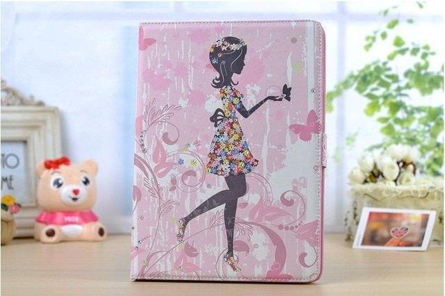 case cover with stand for apple ipad Air 1 ipad 5 tablet case +film