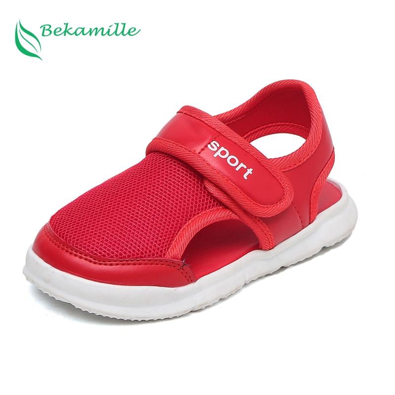 100% Wahr Bekamille Sommer Kinder Schuhe 2018 Jungen Sport Sandalen Mode Soild Farbe Net Tuch Atmungs Sandalen Kinder Kleinkind Baby Schuhe Moderater Preis