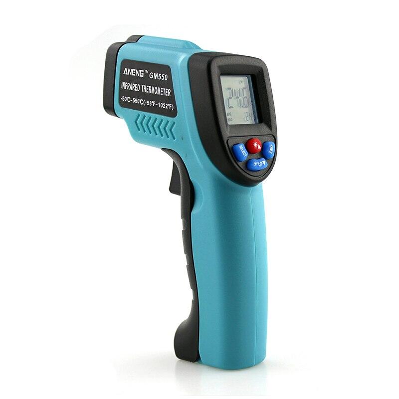 1 PC Nouveau-50 ~ 550 C Numérique infrarouge Thermomètre Pyromètre Aquarium Thermomètre laser En Plein Air thermomètre X13
