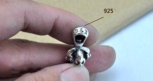 Image 5 - 100% Echt 925 Sterling Zilveren Vajra Hanger S925 Solid Thai Zilveren Hanger Voor Kettingen Mannen Vrouwen Sieraden CP06