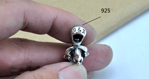 Image 5 - 100% Real 925 Sterling Silver Vajra Pendant S925 Solid Thai Silver Pendant for Necklaces Men Women Jewelry CP06