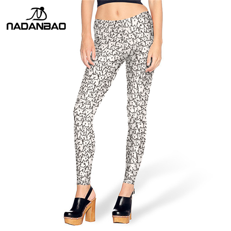 NADANBAO New Design Summer Legging Thousands Of CAT Legins Cute Leggins Printed Women Leggings Sexy Women Pants
