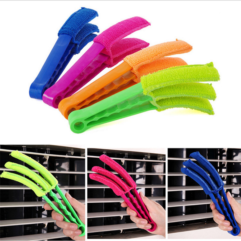 Hippo Home Window Shutter Blinds Brush Cleaner Removable Microfibre Washable Cleaning Tool Air Conditioning Corners Gap