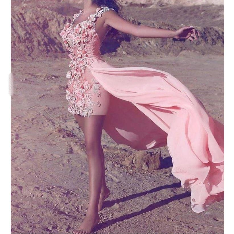 De Longue Soie Mousseline En Madrinha Robe Elbisesi Made Custom Gece Appliques Mariée Robes Abiye Soirée Floral Bal Partie 5Iwq1g6Xq
