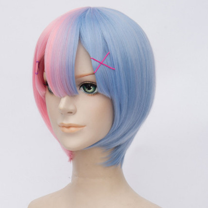 Stark skönhet Cosplay Syntetisk 30cm Anime Cosplay Parycken Kort - Syntetiskt hår - Foto 2