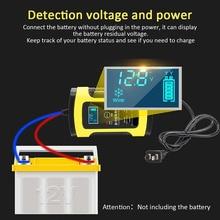 12 V 6A Intelligente Auto Motorrad Batterie Ladegerät für Auto Moto Blei Säure Intelligente Lade 6A AMP Digital LCD display