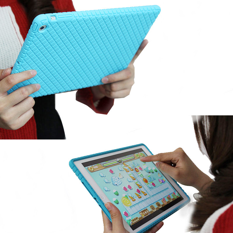Drop Resistance Silicone Soft Case For Ipad Air 1 9.7 Rugged Kids Shock Proof Protective Cover For Ipad Air 1 9.7inch Tablet nice soft silicone back magnetic smart pu leather case for apple 2017 ipad air 1 cover new slim thin flip tpu protective case